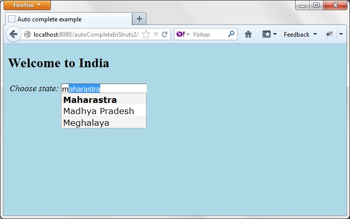 struts 1.2 web application example