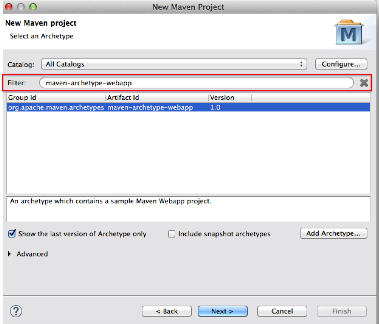 How to create dynamic web project using maven in eclipse