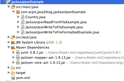 Jackson example – Read and write JSON - Java2Blog