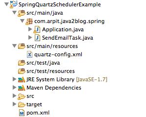 Spring Quartz Scheduler Example using